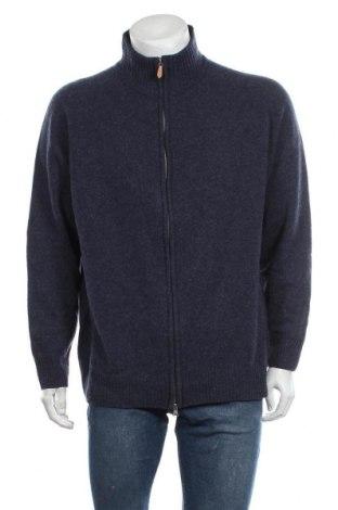 Jachetă tricotată de bărbați Abrams, Mărime XXL, Culoare Albastru, Lână, Preț 96,16 Lei