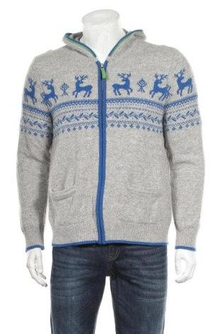 Jachetă tricotată de bărbați Hammerschmid, Mărime XL, Culoare Gri, Lână, Preț 106,11 Lei