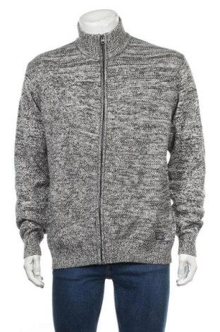 Jachetă tricotată de bărbați Jacks, Mărime XL, Culoare Gri, Bumbac, Preț 86,21 Lei