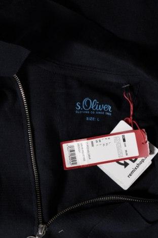 Мъжка жилетка S.Oliver, Размер L, Цвят Син, Памук, Цена 74,25лв.