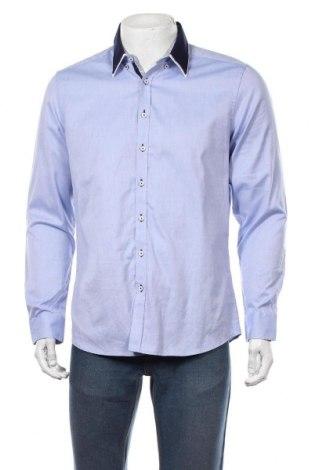 Мъжка риза Angelo Litrico, Размер M, Цвят Син, Памук, Цена 16,07лв.