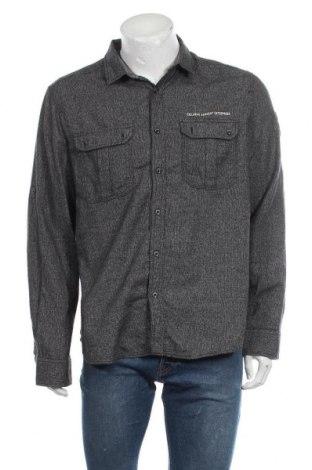 Мъжка риза Angelo Litrico, Размер XL, Цвят Сив, Памук, Цена 16,96лв.