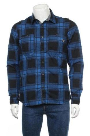 Мъжка риза Angelo Litrico, Размер M, Цвят Син, Памук, Цена 9,26лв.