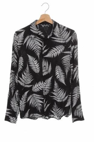 Ανδρικό πουκάμισο H&M, Μέγεθος S, Χρώμα Μαύρο, Βισκόζη, Τιμή 4,68€