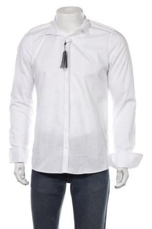 Мъжка риза Olymp, Размер M, Цвят Бял, 97% памук, 3% еластан, Цена 37,92лв.