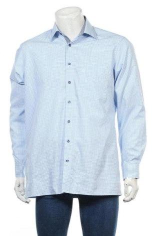 Мъжка риза Olymp, Размер L, Цвят Син, Памук, Цена 15,70лв.