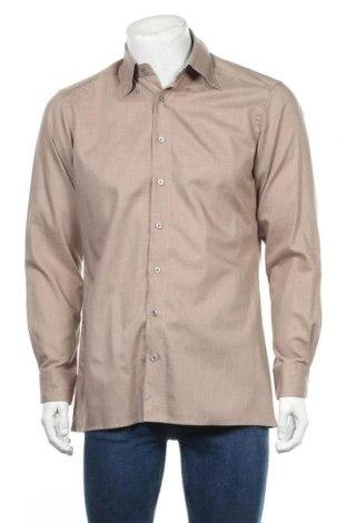 Мъжка риза Olymp, Размер M, Цвят Кафяв, Памук, Цена 12,29лв.