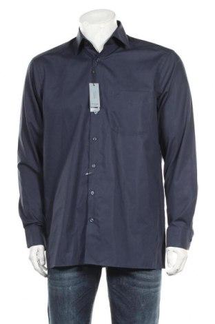 Мъжка риза Olymp, Размер M, Цвят Син, Памук, Цена 32,55лв.