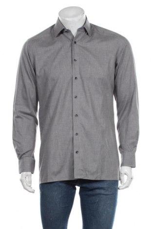 Мъжка риза Olymp, Размер M, Цвят Сив, Памук, Цена 24,57лв.