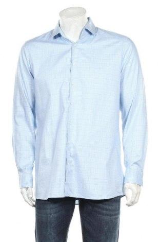 Мъжка риза Olymp, Размер XL, Цвят Син, 97% памук, 3% еластан, Цена 18,90лв.