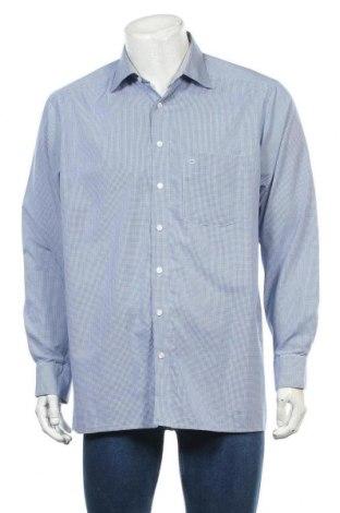 Мъжка риза Olymp, Размер L, Цвят Син, Памук, Цена 22,94лв.