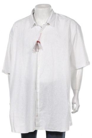 Мъжка риза S.Oliver, Размер 5XL, Цвят Бял, 55% лен, 45% памук, Цена 15,80лв.