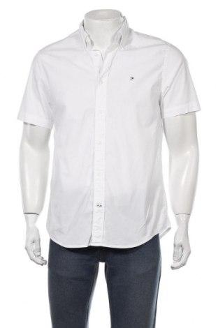Мъжка риза Tommy Hilfiger, Размер M, Цвят Бял, 97% памук, 3% еластан, Цена 69,00лв.