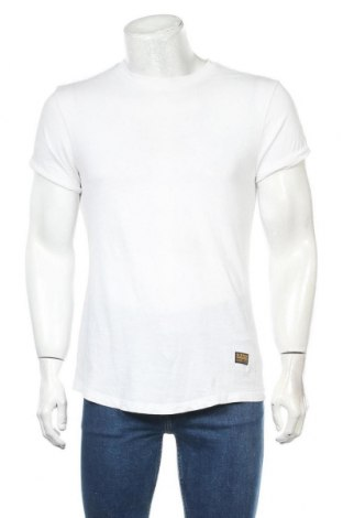 Мъжка тениска G-Star Raw, Размер XXS, Цвят Бял, Цена 27,75лв.