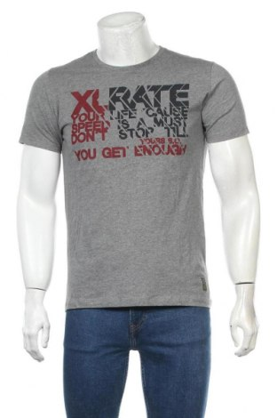 Pánské tričko  S.Oliver, Velikost M, Barva Šedá, Bavlna, Cena  320,00Kč