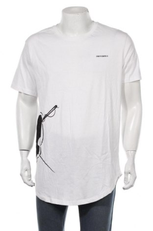 Мъжка тениска Tuffskull, Размер XL, Цвят Бял, 100% памук, Цена 29,40лв.