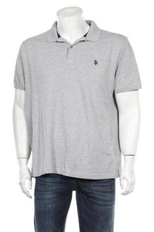 Мъжка тениска U.S. Polo Assn., Размер XXL, Цвят Сив, Памук, Цена 31,20лв.