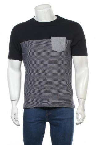 Мъжка тениска Zara, Размер L, Цвят Син, Памук, Цена 18,90лв.