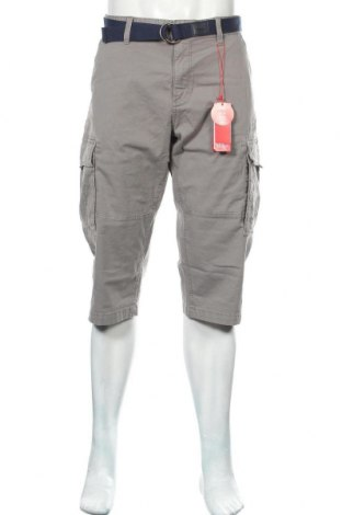 Мъжки къс панталон S.Oliver, Размер L, Цвят Сив, 98% памук, 2% еластан, Цена 22,77лв.