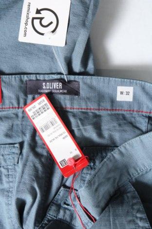 Мъжки къс панталон S.Oliver, Размер M, Цвят Син, Памук, Цена 24,50лв.
