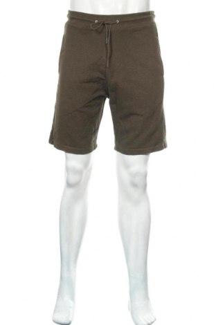 Мъжки къс панталон Zara, Размер M, Цвят Зелен, 91% памук, 9% полиестер, Цена 25,50лв.