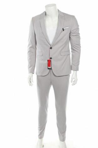 Ανδρικό κοστούμι Cinque, Μέγεθος M, Χρώμα Γκρί, 54% βισκόζη, 42% πολυεστέρας, 4% ελαστάνη, Τιμή 77,36€