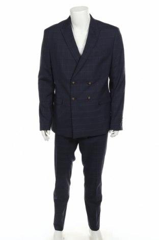 Costum de bărbați Isaac Dewhirst, Mărime L, Culoare Albastru, 68% poliester, 30% viscoză, 2% elastan, Preț 294,64 Lei