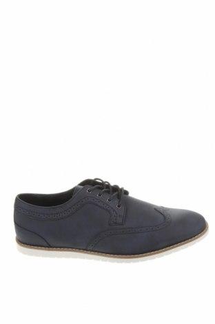 Ανδρικά παπούτσια Pull&Bear, Μέγεθος 45, Χρώμα Μπλέ, Δερματίνη, Τιμή 22,81€