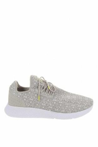 Ανδρικά παπούτσια Pull&Bear, Μέγεθος 45, Χρώμα Γκρί, Κλωστοϋφαντουργικά προϊόντα, Τιμή 30,41€