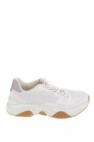 Ανδρικά παπούτσια Pull&Bear, Μέγεθος 40, Χρώμα Λευκό, Κλωστοϋφαντουργικά προϊόντα, δερματίνη, Τιμή 22,81€