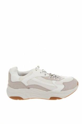 Ανδρικά παπούτσια Pull&Bear, Μέγεθος 42, Χρώμα Λευκό, Κλωστοϋφαντουργικά προϊόντα, δερματίνη, Τιμή 30,41€