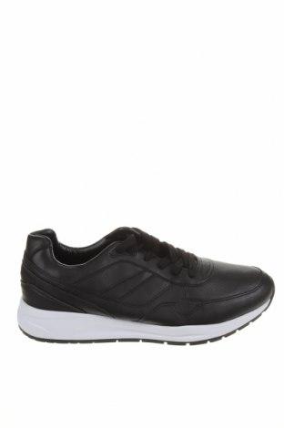 Ανδρικά παπούτσια Pull&Bear, Μέγεθος 44, Χρώμα Μαύρο, Δερματίνη, Τιμή 30,41€