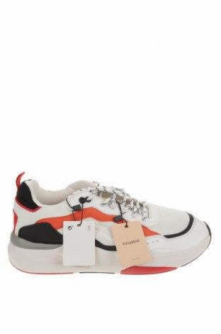 Ανδρικά παπούτσια Pull&Bear, Μέγεθος 45, Χρώμα Λευκό, Κλωστοϋφαντουργικά προϊόντα, δερματίνη, Τιμή 20,10€