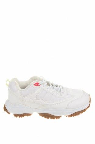 Ανδρικά παπούτσια Pull&Bear, Μέγεθος 43, Χρώμα Λευκό, Δερματίνη, κλωστοϋφαντουργικά προϊόντα, Τιμή 26,80€