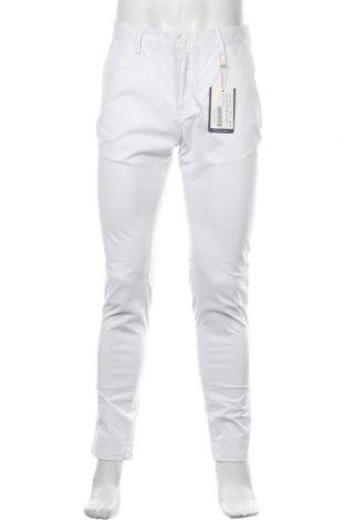 Pantaloni de bărbați Dreimaster, Mărime M, Culoare Alb, 97% bumbac, 3% elastan, Preț 116,94 Lei