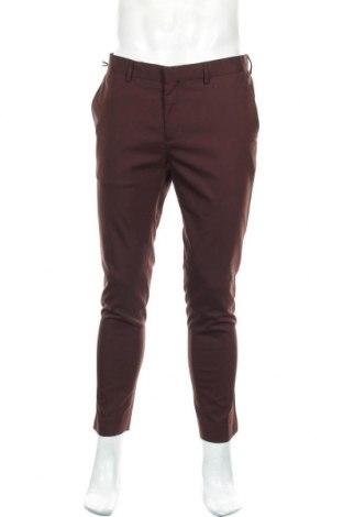 Мъжки панталон River Island, Размер L, Цвят Кафяв, 67% полиестер, 31% вискоза, 2% еластан, Цена 12,60лв.