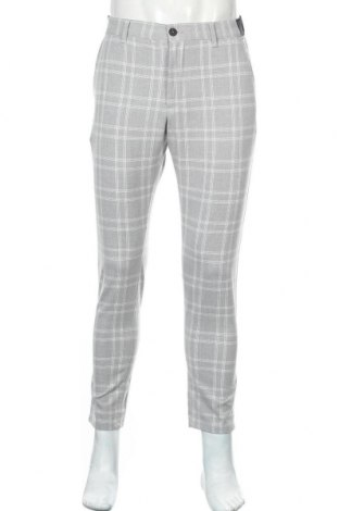 Мъжки панталон Zara, Размер S, Цвят Сив, 62% полиестер, 33% вискоза, 5% еластан, Цена 27,00лв.