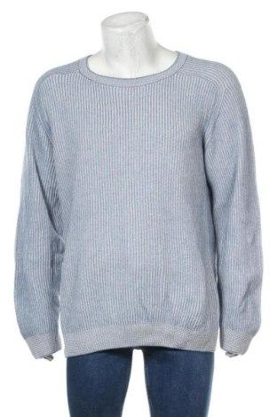 Ανδρικό πουλόβερ, Μέγεθος XL, Χρώμα Μπλέ, 50% βαμβάκι, 30% πολυαμίδη, 20% μαλλί, Τιμή 18,19€