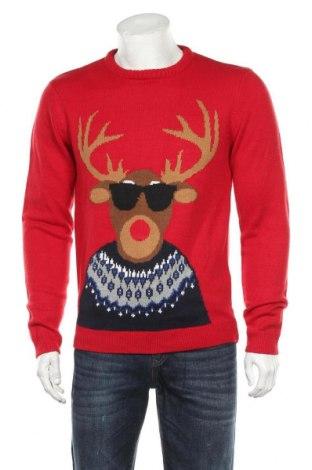 Мъжки пуловер Angelo Litrico, Размер M, Цвят Червен, Акрил, Цена 26,46лв.
