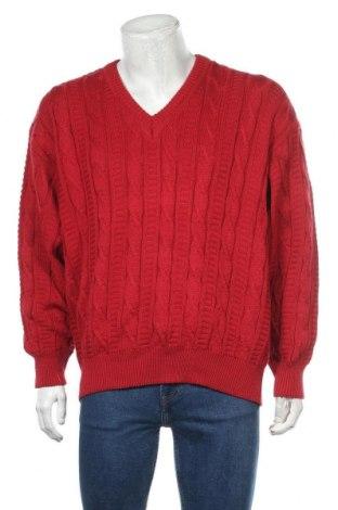 Мъжки пуловер Angelo Litrico, Размер L, Цвят Червен, 50% памук, 50% акрил, Цена 57,86лв.