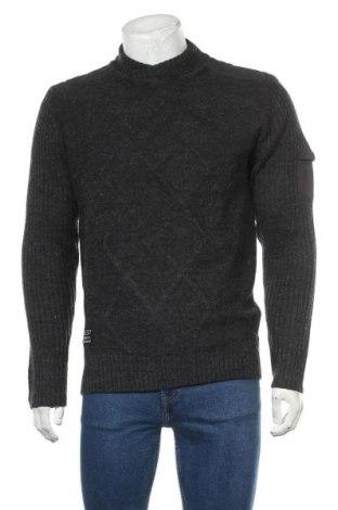 Мъжки пуловер Angelo Litrico, Размер L, Цвят Сив, 85% акрил, 15% вълна, Цена 38,85лв.
