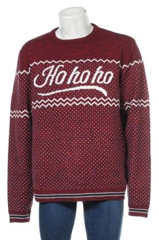Мъжки пуловер Angelo Litrico, Размер XXL, Цвят Червен, Акрил, Цена 33,60лв.