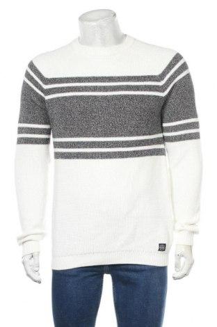 Мъжки пуловер Angelo Litrico, Размер M, Цвят Бял, Памук, Цена 25,20лв.