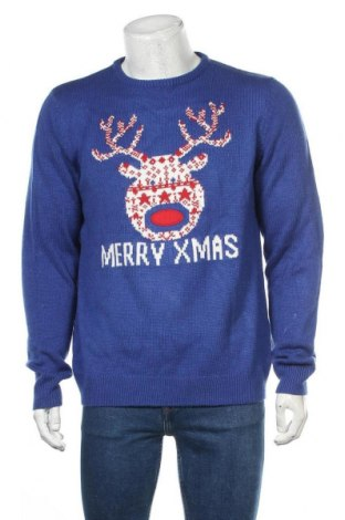 Мъжки пуловер Angelo Litrico, Размер L, Цвят Син, Цена 25,94лв.