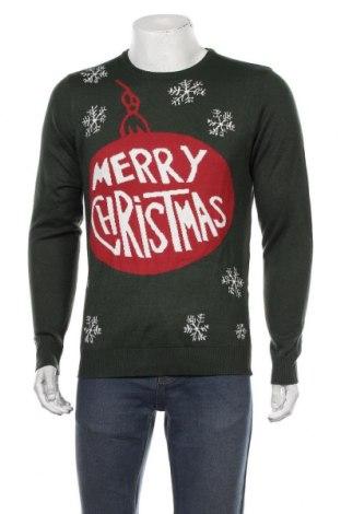 Мъжки пуловер Blend, Размер M, Цвят Зелен, Акрил, Цена 12,86лв.