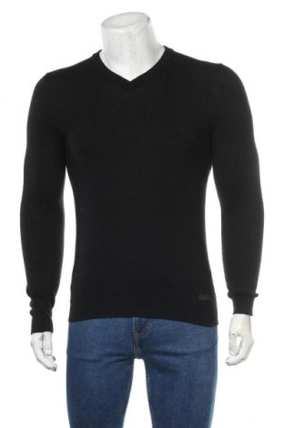 Мъжки пуловер Esprit, Размер S, Цвят Черен, 100% вълна, Цена 26,25лв.