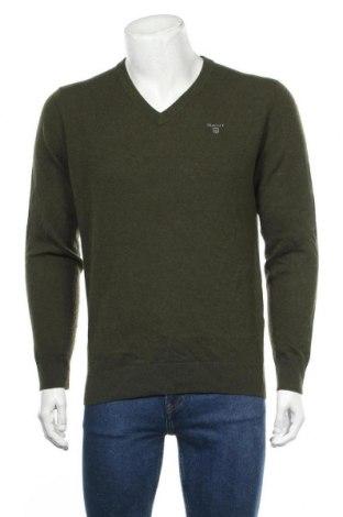Pulover de bărbați Gant, Mărime M, Culoare Verde, Lână, Preț 215,53 Lei