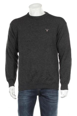 Pulover de bărbați Gant, Mărime L, Culoare Gri, Lână, Preț 156,50 Lei