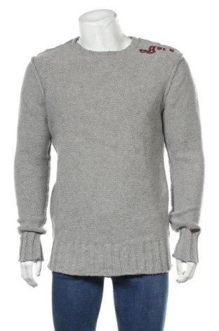 Ανδρικό πουλόβερ Guru, Μέγεθος XXL, Χρώμα Γκρί, 80% μαλλί, 20% πολυαμίδη, Τιμή 16,89€