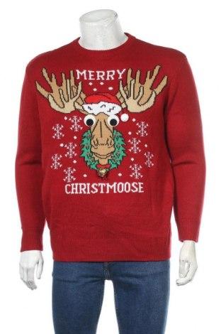 Ανδρικό πουλόβερ H&M, Μέγεθος M, Χρώμα Κόκκινο, Ακρυλικό, Τιμή 23,38€